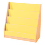 4 Tier Book Display Yellow/Maple