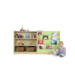 3 Shelf Bookcase Green/Maple