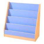 4 Tier Book Display Blue/Maple
