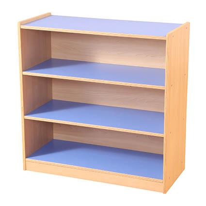 3 Shelf Bookcase Blue/Maple