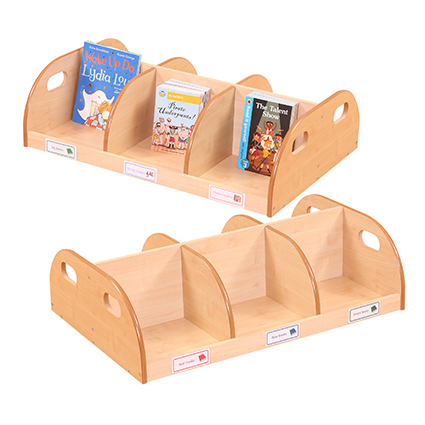 Double Desktop Book Display and Storage Unit