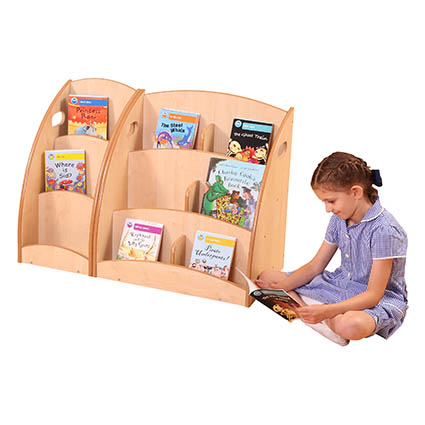 6 Compartment Book Display